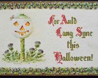 Halloween Postcard JOL Tree Gottschalk Dreyfuss Davis Series 2040 Germany
