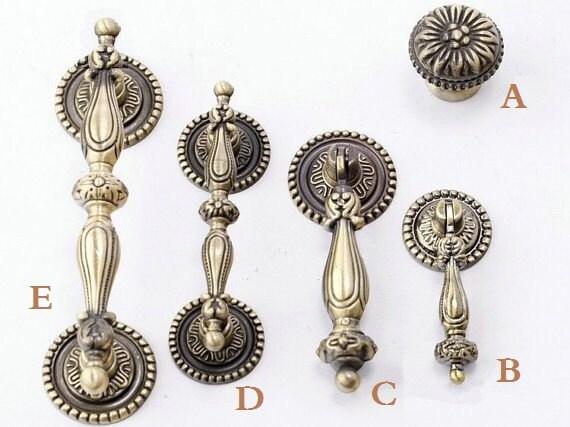 2.5 3.5 Vintage Dresser Knobs Pulls Drawer Knobs