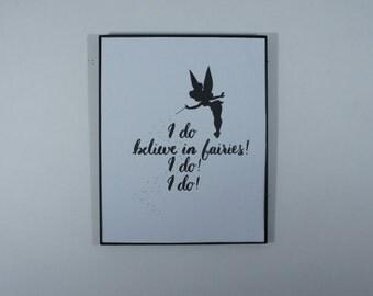 Tinkerbell Art Print // Disney Art Print // Calligraphic Print // Quote // Room Decor // Handmade