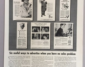 1944 Young & Rubicam Advertising Print Ad - War Advertising - World War II Era