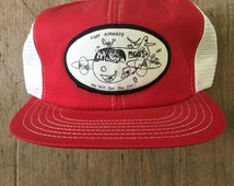 Vintage Pimp Airways Mesh Trucker Hat Snapback Baseball Cap Patch