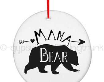 Mama Bear Ornament - Mama Bear - Bear Ornament - Woodland Ornament - Mama Christmas Ornament - Christmas Gifts - Christmas