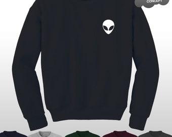 Alien sweatshirt | Etsy