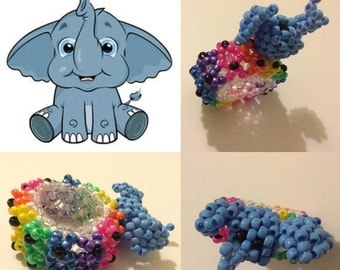 Cute Elephant 3D Kandi Cuff