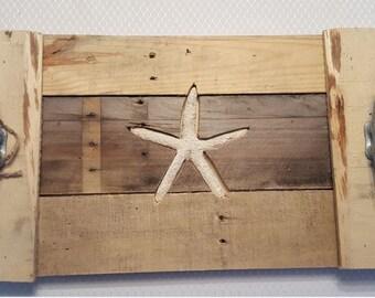 Cottage Chic Coastal Starfish Tray