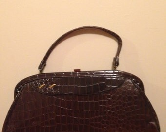 Ladies Brown Vintage Vinyl Handbag!