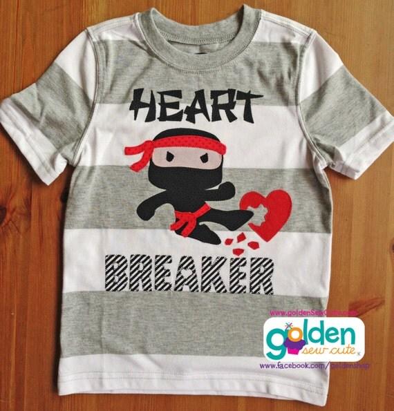 Valentine's Day Ninja Heart Breaker Tee
