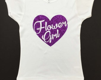 Flower Girl Shirt, Flower Girl, Flower Girl Gift, Wedding Gift, Wedding Party, Also Available in Gold