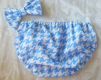 Hounds Tooth Bloomers / Diaper cover Baby -baby -girls