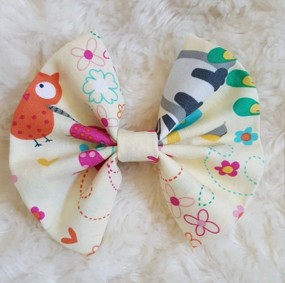 Woodland friends, forest friends  Hair bow, hair accesory