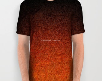 Orange and Black Glitter Gradient T-Shirt, 6 Sizes Available!