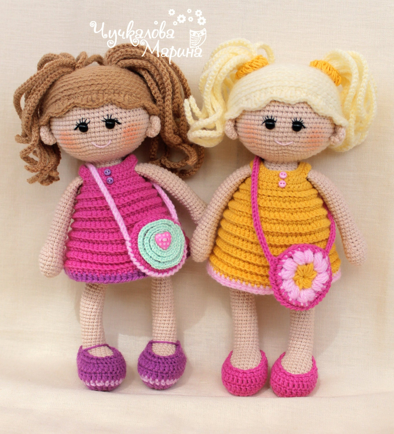 Crochet Doll Pattern Easy : PATTERN Pumposhka doll PDF crochet doll pattern