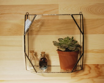 Hanging Glass Terrarium / Geometric Glass Terarrium / Handmade Glass Terrarium / Accessory Box / Jewelry Box / Stained Glass Box / Organiser