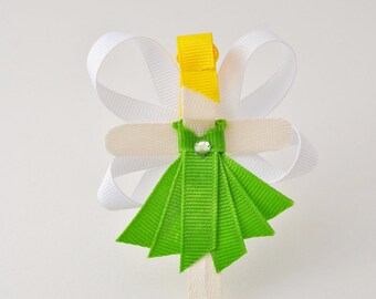 Tinkerbell Peter Pan Ribbon Hair Clip