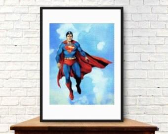 Superman Wall Art ,Printable Art, Inspirational Quote, Typography Art, Digital Prints,Wall Art Prints, Digital Download