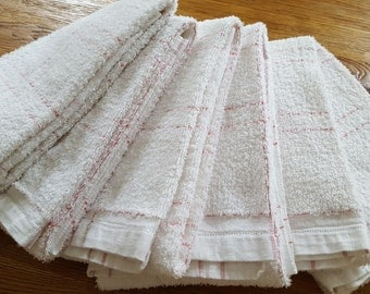 Pack of 6 red neutral ref 12129 towels