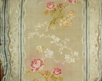 18th C French Silk Brocade Fabric