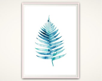 Fern Print, Nature Art, Leaf Print, Tropical Leaf, Botanical Print, Leaf Wall Art, Gallery Wall Art, Printable Poster, Decorative Wall Art