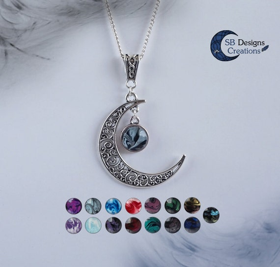 Moon necklace celtic necklace crescent moon celtic moon like this item aloadofball Choice Image