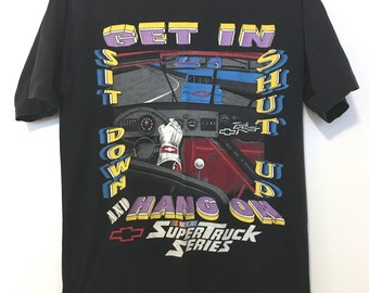 Vintage 80's Chevy Truck Racing Shirt