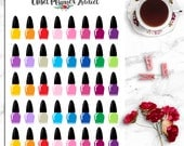 Nail Polish Icon Planner Stickers | Manicure Stickers | Pedicure Stickers | Planner Icons | Appointment Reminder (I-046)
