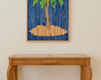 Palm Tree Wood Wall Art