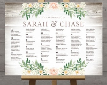 View Wedding Seating Charts by HandsInTheAttic on Etsy