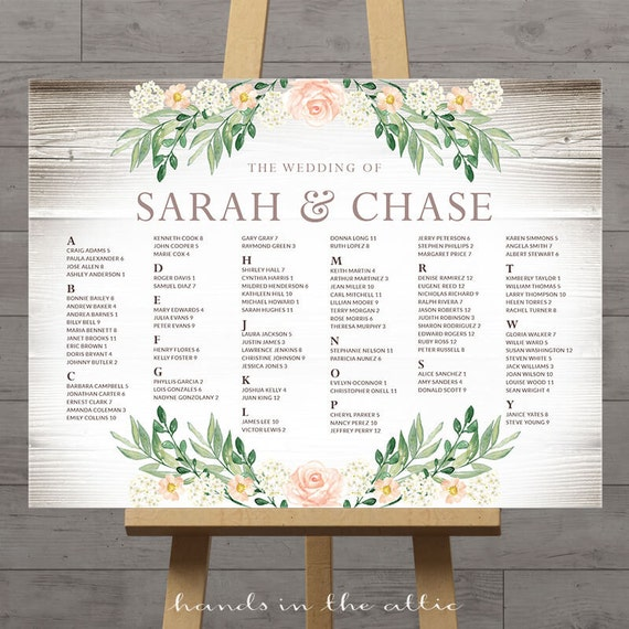 Rustic seating charts for weddings, chart ideas poster, wedding ...