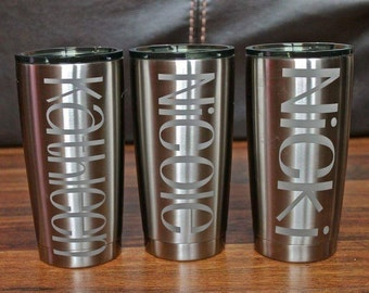 ETCHED 20 oz Ozark Trail Tumbler similar to RTIC YETI Rambler | Stainless Steel | Company Gift | Father's Day | Mother's Day | Bridesmaid