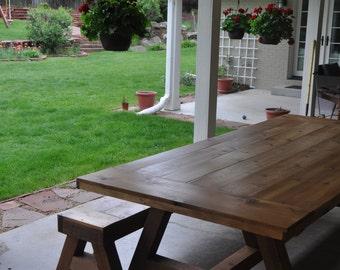 Outdoor Cedar Tables + Benches