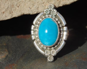 T. Spencer ~ Sterling Silver and Turquoise Ring
