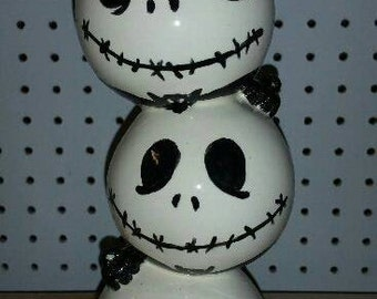 The Pumpkin King Vase, the many faces of Jack.