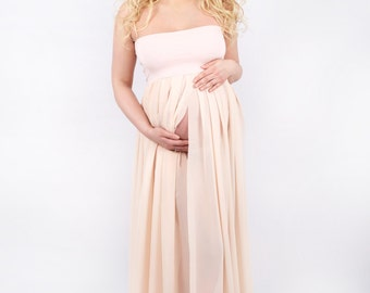 Maternity dress SIMPLICITY,maternity gown,maternity photo shoot,UK seller,photo prop,pregnancy gown,baby shower dress