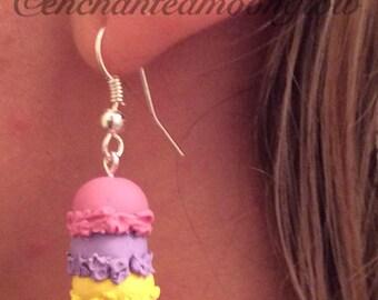 Ice Cream Cone dangle Earrings