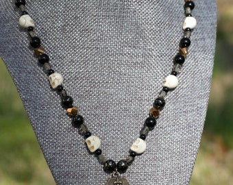 Coffin Hand-Strung Beaded Necklace