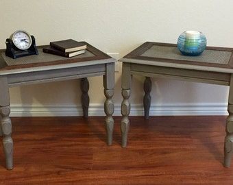 Hand Painted/Stained | Vintage End Tables | Side Tables | Nightstands | Accent Tables