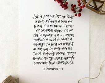 Handlettered 'Love Is...' Print