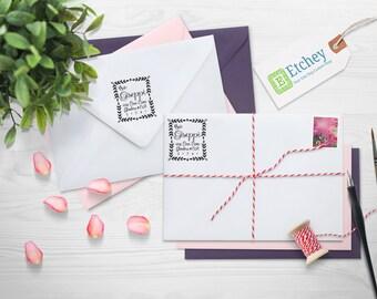 Custom Rubber Stamp, Self Inking Stamp, Custom Return Address Stamp, Self Ink Return Address Stamp, --SI-400RC-Gissepi