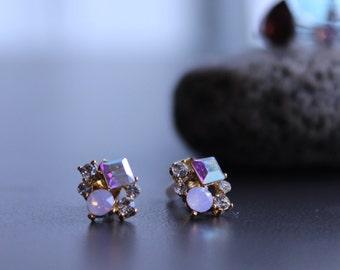 Cute Crystal stud earrings, cute earrings, crystal earrings stud, crystal earrings, dainty earrings
