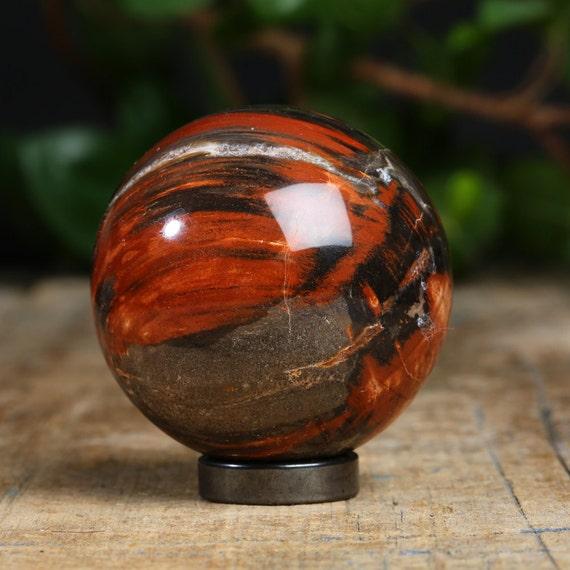 Mystique ! Bois pétrifié / fossilisé bois 51 mm cristal sphère