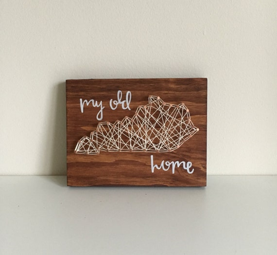 Small my old kentucky home string art for Classic house string sound