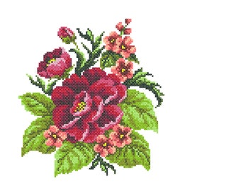 Embroidery Dahlia, machine embroidery Dahlia, cross stitch embroidery Dahlia