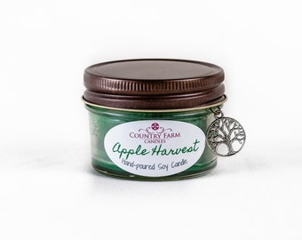 Apple Harvest Soy Candle 3 oz. Glass Jar Container