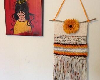 Autumn Rainbow - Handwoven Wall Art