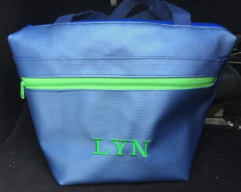 Monogrammed Lunch Bag, Personalised Lunch Tote, Large Insulated Lunch Box, Reusable, Office Lunch Bag, Work Lunch Bag, School Lunch Bag