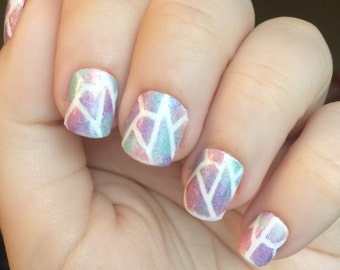 Shard Nail Guides, Vinyl Nail Decals, Stained Glass Nail Guides, Vinyl Nail Stickers, Nail Art, Nail Stencils, Nail Stickers
