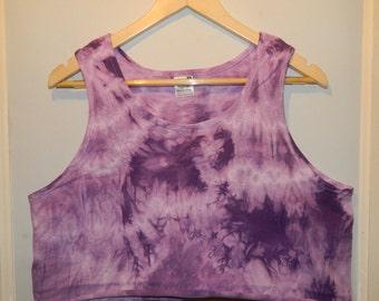 Tie Dye acid wash vest crop top Cutoff Tshirt hipster festival grunge Retro 80s 90s indie dip dye indie rave skate top