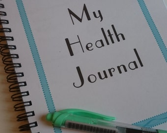 Health Journal - Weight Loss, Exercise Diary/Planner. Fitness planner, diet tracker A5
