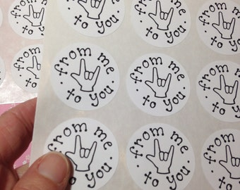36 ASL ILY From Me To You STICKERS