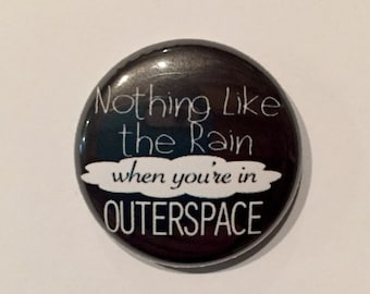Outerspace/Carry On 1 Inch Pinback Button